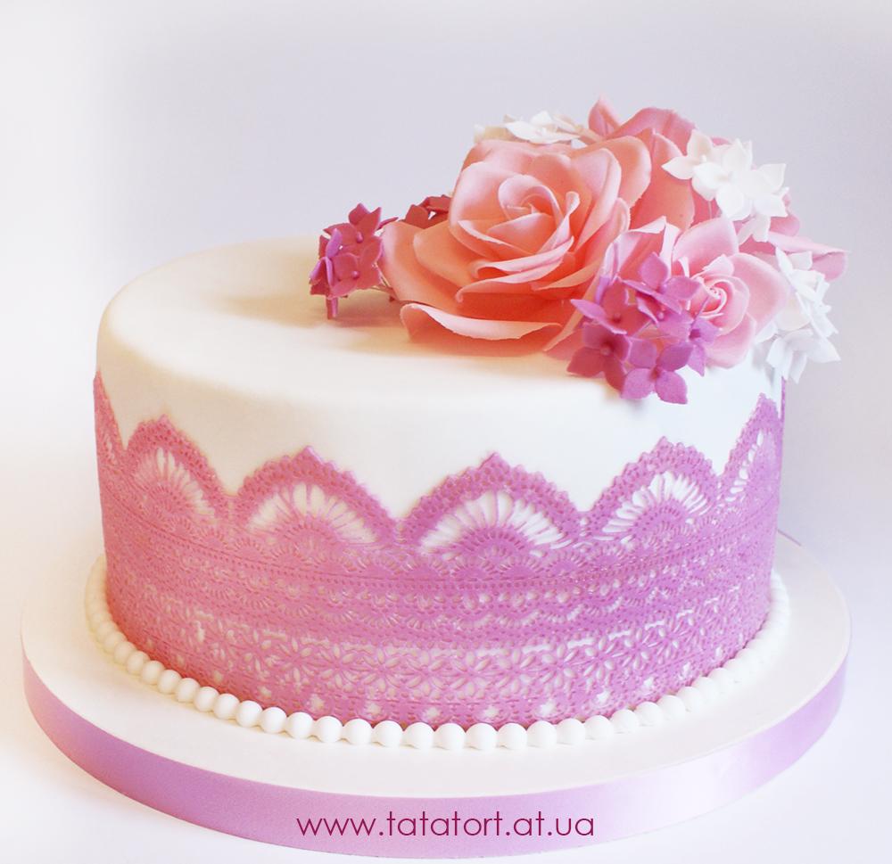 Торты с сахарными цветами