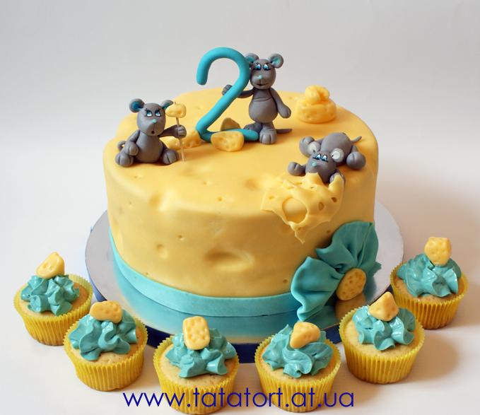 31 03 2013 торт на 2 годика с мышками tatatort